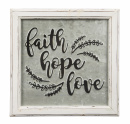 Faith Hope Love Sign