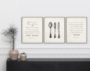 Set of 3 Kitchen Prayer Prints