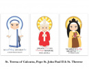 Set of 12 Saint Flash Cards