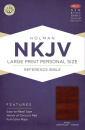 NKJV Large Print Personal Size Reference Bible (Brown)