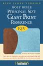 KJV Personal Size Giant Print Reference Bible (Chocolate & Blue)